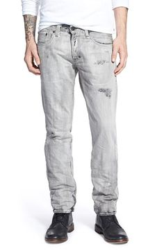 Men's PRPS 'Demon - Rai' Slim Straight Leg Jeans (Grey)