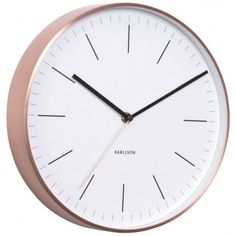£50 - Karlsson Minimal Copper Clock - White - classic wall clock