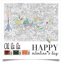 Meet me at Paris by natialfaro on Polyvore featuring art, valentinesday and polyfriends
