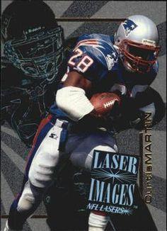 1996 Score Board NFL Lasers - Laser Images #I19 Curtis Martin Front