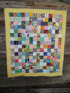 """Blueberry Patch: An I Spy quilt and I really love 4"""" squares"""