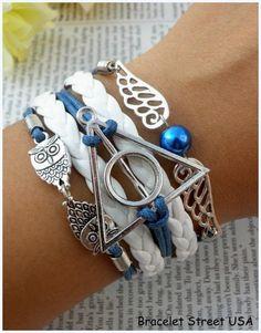 Handmade Leather Harry Potter Bracelet