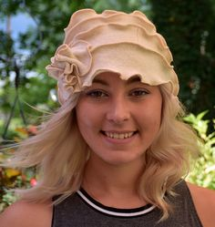 Simply Elegant Ivory Lambswool Hat Made From an Upcycled Sweater