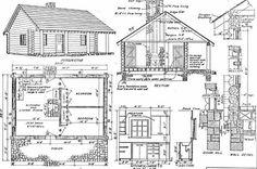 Log Home Plans: 40 Totally Free DIY Log Cabin Floor Plans