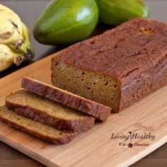 Avocado Banana Bread Recipe (paleo, low carb, gluten, grain, dairy and refined sugar free)