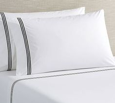 Grand Organic Sheet Set, Full, Midnight at Pottery Barn Percale Sheets, Linen Sheets, Linen Bedding, Bed Linens, Bed Sheets, Bedding Sets, Pillow Shams, Pillow Cases, Hotel Bed