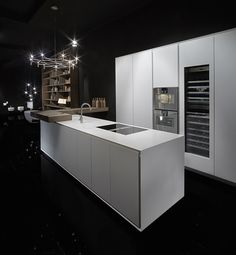Linear Corian® kitchen ONE | Corian® kitchen - RIFRA