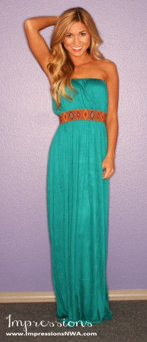 Boho Luxe Maxi in Jade | Impressions. Great bright color.