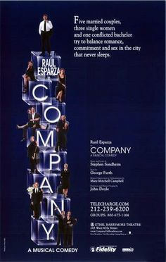 Company (Broadway Revival, 2006)| BlueGobo.com | Broadway posters, Raúl esparza, Sunday in the park with george