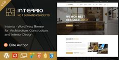 Interrio – WordPress Theme for Architecture, Construction and Interior Design