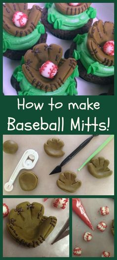 Baseball Mitts- fun was to use Fondant here!