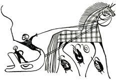 Роспись на мезенской прялочке