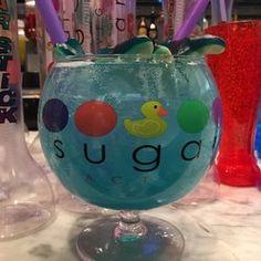 Sugar Factory - Las Vegas, NV, United States. Oceans Blue Goblet