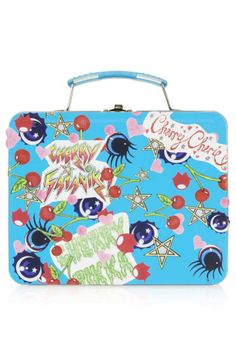 Meadham Kirchhoff for Topshop lunchbox with cherry graphic print - http://thegliterati.net/2013/11/21/make-mine-meadham/