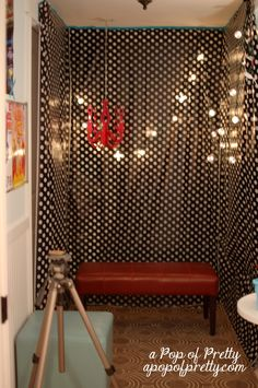 diy photo booth backdrop. Def going to use this