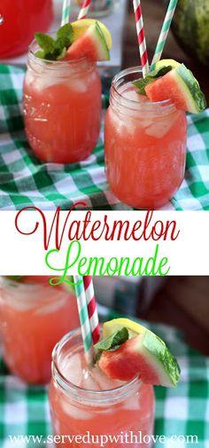 Served Up With Love: Fresh Watermelon Lemonade