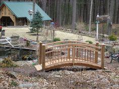 Arched Garden Foot Bridge from   Willard Wood Works