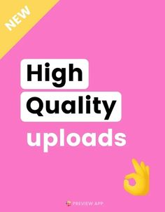 """Want to know how to upload high quality photos and videos on Instagram? Instagram has been reducing the image quality of posts on purpose, so that it can post on for you faster. But you can use the new """"High-Quality Upload"""" feature, to upload high resolution photos and videos. Here is how to do it. #instagramtips #instagramstrategy #instagrammarketing #socialmedia #socialmediatips Best Instagram Photos, Creative Instagram Stories, Instagram Bio, Instagram Story Ideas, List Of Hashtags, How To Use Hashtags, Instagram Settings, Best Time To Post, Gain Followers"""