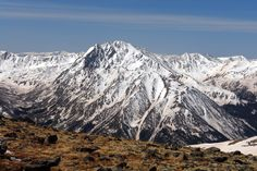 La Plata Peak as seen from the south ridge of Mount Elbert. Description from summitpost.org. I searched for this on bing.com/images