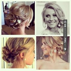 Simple prom hair updos and + easy prom hairstyles & updos ideas (stepstep) Wedding Hair And Makeup, Bridal Hair, Hair Makeup, Wedding Updo, Fancy Hairstyles, Bride Hairstyles, Bridesmaid Hairstyles, Hairstyle Ideas, Drawing Hairstyles