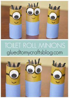 Toilet Paper Roll Minions - Kid Craft