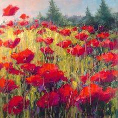 poppy-acrylic.  Artist: Jennifer Bowman
