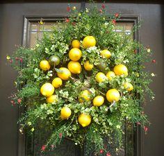 Beautiful lemon wreath - so perfect for spring!