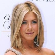 Jennifer Aniston with short blonde hair