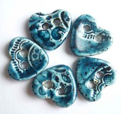 How Blue is Your Heart by buttonalia on Etsy, $12.50