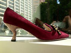 Prada pump with gold heel