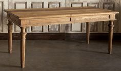 Ridge Road Dining Table - Reclaimed old elm wood. $1749.