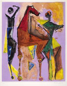 Marino Marini, Hoary-headed frosts… (A Midsummer Night's Dream),  III, etching, aquatint and drypoint, 1977
