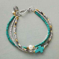 Beaded Bracelets Tutorial, Handmade Bracelets, Cross Jewelry, Beaded Jewelry, Beaded Necklaces, Jewellery, Bohemian Jewelry, Turquoise Jewelry, Turquoise Bracelet