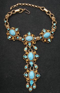 3DAYAUCTION-VINTAGE-Christian-Dior-Runway-Haute-Couture-Necklace-by-Kramer-1954