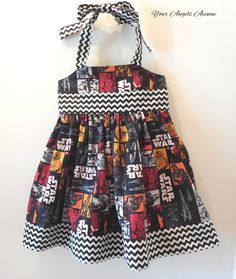 Baby Toddler Girls Marvel Comics Star Wars Chewbacca Darth Vader Character Dress Sizes Newborn to Girls 6 by YourAngelsAvenue on Etsy #chewbaccadress #starwars