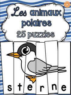 Animaux polaires - 25 puzzles - French animals by French Buzz Puzzles, Coffee Shop Names, French Words, Coloring Pages, Kindergarten, Kids, Fictional Characters, Animals, Coffee Delivery