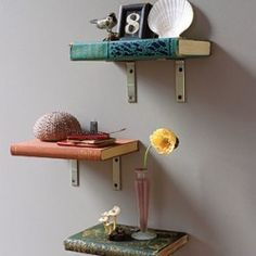 books as shelves! #upcycle