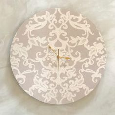 Amelia Clock - 60cm Shop Clocks - Kirsty Badenhorst Interiors | Ikat & Ivory | Online Store Ikat, Amelia, Clocks, Decorative Plates, Ivory, Interiors, Handmade, Shopping, Home Decor