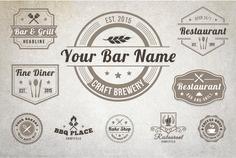 10 Vintage Restaurant Logos by Lucion Creative on Creative Market Logo Restaurant, Restaurant Bar And Grill, Restaurant Website, Vintage Restaurant, Bar Grill, Bbq Places, Cofee Shop, Modern Logo, Creative Logo