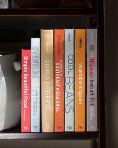 Cookbook shelf  #cookbooks #cookbook #recipes #recipe Handmade Bookshelves, Asian Grill, Cookbook Shelf, Learn From Your Mistakes, Bookshelf Styling, Learn To Cook, Cookbook Recipes, Love Book, Modern Decor