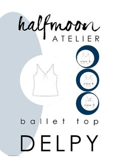 DELPY is a loose fitting, easy-to-wear camisole top with thin straps and three options of back views, including a scoop back (view A) and a cross-strap back (view C). A simple basic with a touch of elegance, ballet top DELPY will become a versatile staple in your capsule wardrobe. It is perfect on a warm summer day, or as a light layering piece under a merino wool cardigan in the winter. Some test makers have said: I love the skinny straps. This is my favourite bit. ...slim straps that are…
