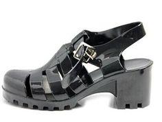 Pas cher Femmes chaussures de gelée de sandales de 2015 nouvelle mode gelée gladiateurs en plastique sandales chaussures à talons carrés femmes sandalias sapato feminino, Acheter  Sandales pour femmes de qualité directement des fournisseurs de Chine:        Femmes gelée chaussures sandale 2015 Nouveau mode de gelée en plastique gladiateur sandales talon ca