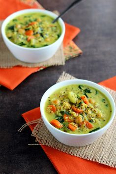 Chickpea & Vegetable Coconut Curry Soup - ilovevegan.com