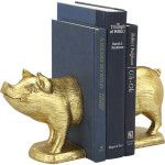 gold-pig-bookends-set-of-2 CB2