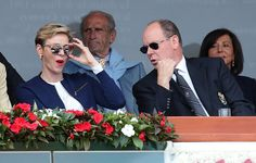 Princess Charlene and Prince Albert at Monte-Carlo Sporting Club