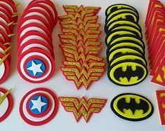 0-apliques-super-herois-liga-da-justica-morcego Superman Birthday, Batman Party, Superhero Birthday Party, 4th Birthday, Birthday Party Themes, Foam Crafts, Diy And Crafts, Superhero Baby Shower, Wonder Woman Party