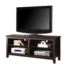 """58"""" Espresso Wood Tv Stand"""