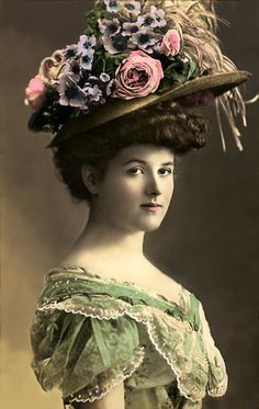 The Sum Of All Crafts: image collection-women (hats) Beautiful, my goodness, the hat! I  am not sure I could worn those hats