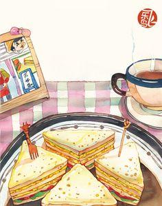 《小食光,一个人的美食手账》——用治愈的...@飞乐鸟采集到飞乐鸟插画篇(499图)_花瓣插画/漫画