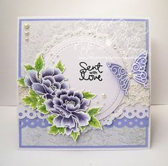 A Sprinkling of Glitter: Lacy Scrolls! - Simon Says Stamp DT